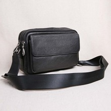 AETOO Mini Men's Small Bag Leather Shoulder Crossbody Bag Top Leather Casual Flap Men's BaG