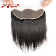 ALI ANNABELLE HAIR Brazilian Straight Hair Lace Frontal Closure 13×4 Swiss Lace Ear To Ear Remy Human Hair Closure Free Shipping