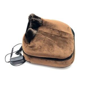 Image 5 - Chaussure de Massage électrique chauffante 2 en 1, accessoire confortable unisexe, chauffant, taille, en velours