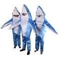 Azul adultos shark animal costume cosplay traje de La Mascota Lindo unisex mascote disfraces de halloween para las mujeres al por mayor