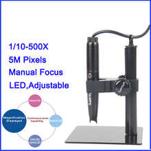 Cheapest prices 1PCS B008 500X USB Portable 5.0 MP Digital Microscope Magnifier PCB Inspect