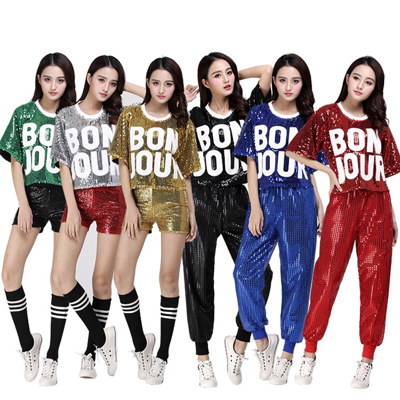New costumes DS female adult jazz costumes modern dance practice clothes hip hop sequins dance clothing Performance clothing