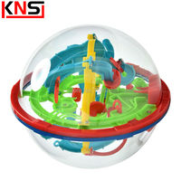 Free Shipping 100 Steps Magic Intellect 3D Maze Puzzle Ball Kids Game Brain Educational Children Toys