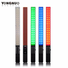 лучшая цена YONGNUO 360LED YN360 3200K-5500K Handheld LED Video Light RGB Colorful 39.5CM ICE Stick Professional Photo LED Stick