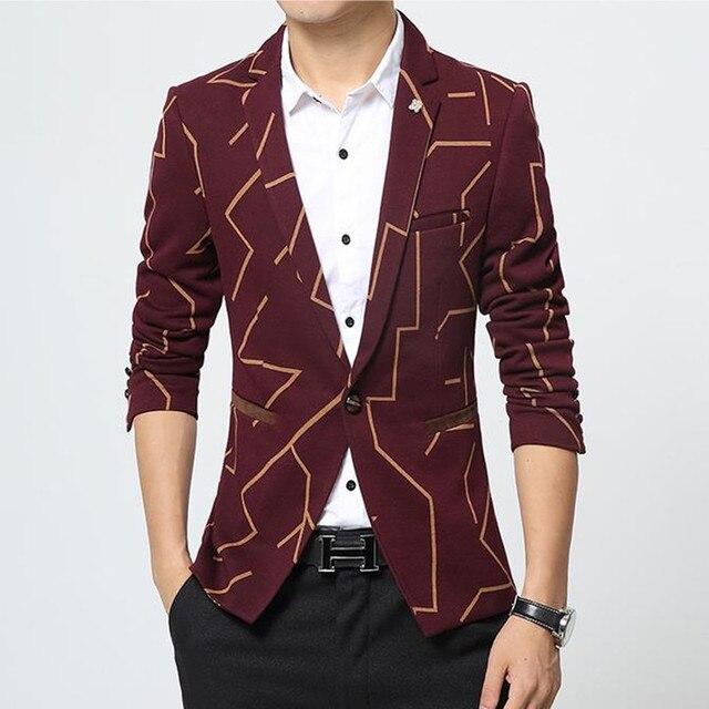 Весна 2017 Новая Мода Горячее Надувательство Высокого Качества Платье Пиджак мужчины Случайные Костюм Мужчин Slim Fit Мужская Blazer Куртка Blazer Masculino