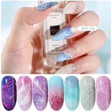 HNUIX 10 colours Nail art star transfer paper hot sale Rainbow sky Japanese style nail foil sticker nail polish adhesive sticker
