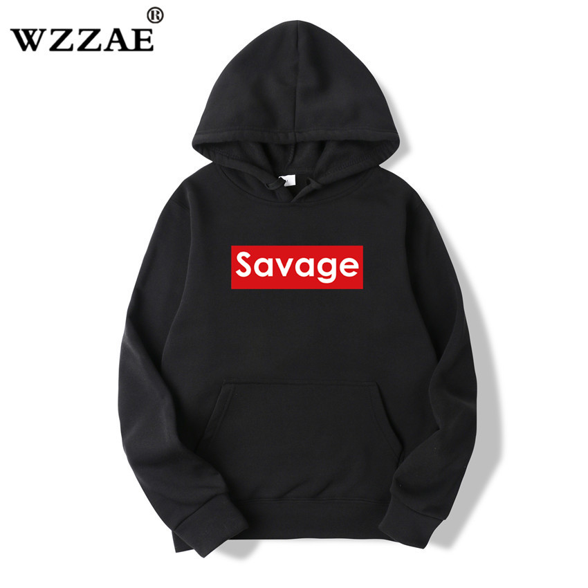 WZZAE 2018 Brand New Autumn Fashion Men's Savage Hoodies And Sweatshirts Man Casual Hoodies Men Clothing Savage Hoody Size M-3XL