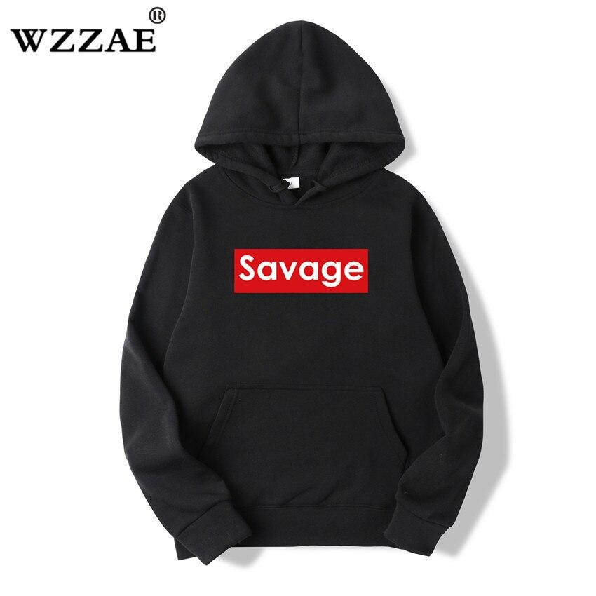 WZZAE 2018 Brand New Autumn Fashion Men's Savage Hoodies And Sweatshirts Man Casual Hoodies Men Clothing Savage Hoody Size M-3XL