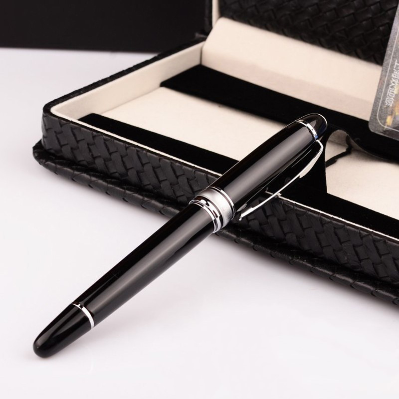 1 PCS High-grade Fountain Pen 14K Solid Gold Nib Original with Gift Box 0.5mm Stationery Office and school Supplies HERO 100 8pcs lot wholesale fountain pen black m 14 k solid gold nib or rollerball pen picasso 89 big executive stationery free shipping