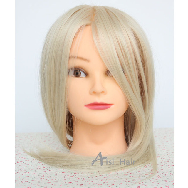 Excellent Aliexpress Com Buy Blonde Hair Mannequin Head 18Quot Hairdressing Short Hairstyles For Black Women Fulllsitofus