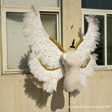 Высокое качество чистого ручной работы большой белый ангел перо крылья Взрослых большой дьявол крылья этап показать съемки реквизит EMS Бесплатная доставка