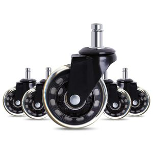 Image 1 - HOT New 5 PCS Furniture Caster Hot Sale Office Chair Caster Wheels Roller Rollerblade Style Castor Wheel Replacement (2.5inches)