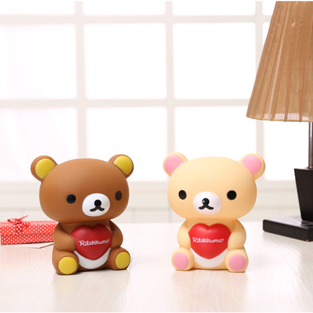 Portable Cute Bear Animal Plastic Cash Coin Money Box Children Toy Kids Gifts Home Decor Collection