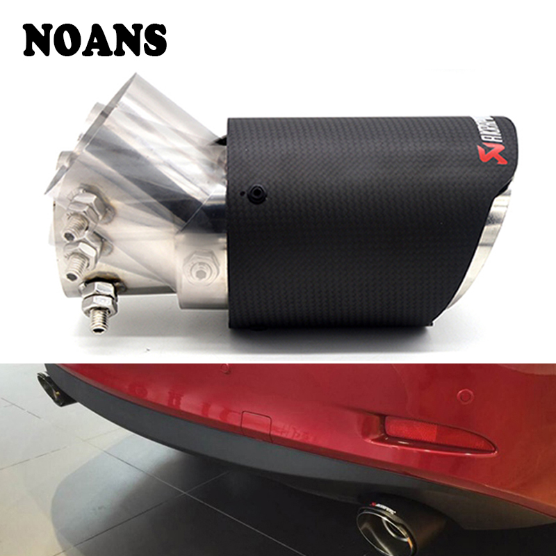 Adjustable Angle Akrapovic Carbon Fiber Exhaust Tip for Suzuki Vitara Swift Jimmy SX4 Alto Mazda 3
