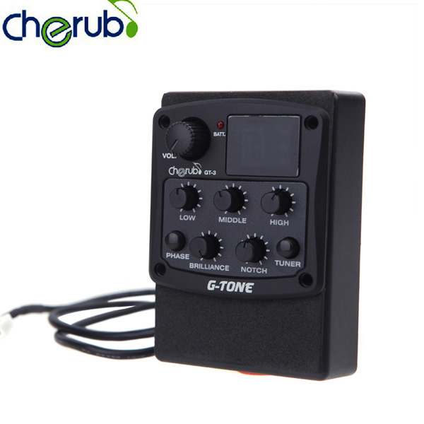 US $14 92 37% OFF|Cherub G Tone 3 Band EQ Equalizer Acoustic Guitar Preamp  Piezo Pickup LCD Tuner-in Guitar Parts & Accessories from Sports &