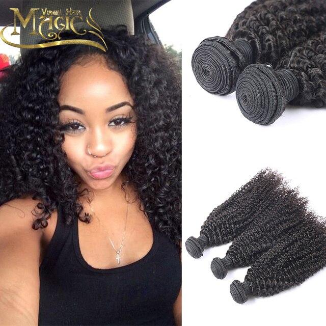 Good Quality Mongolian Kinky Curly Hair 3pcslot Human Hair