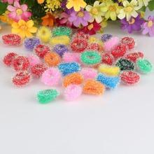 Hot 38pcs/pack Girls Elastics Headband Cute Girls Hair Accessories scrunchy Colorful Small Circle Elastic Gum for Hair Band