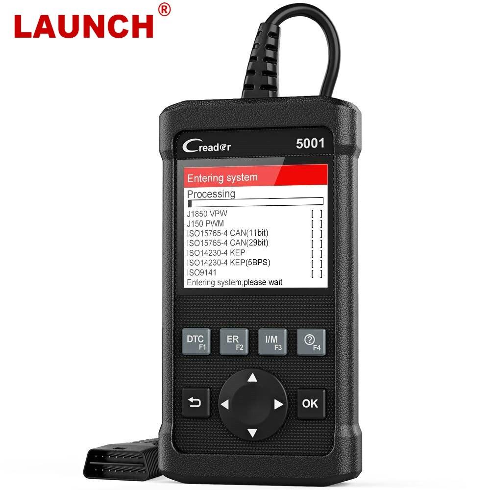 купить LAUNCH CR5001 Full OBD2 Car Diagnostics Tool Creader 5001 OBDII Auto Scanner ODB2 Engine Erase Code Free Update PK KW850 KW 850 по цене 2961.63 рублей