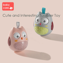 Cute Baby Rattles Tumbler Doll Kids Sweet Bell Music Roly-Poly Owl Cartoon Toy Handle Educational Bed Bells Stroller Toys