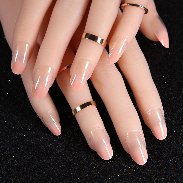 Japanese Nail finished nude pink round long section of the coupler ...