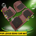 Wire Circle Leather Car Floor Mats 3D Car Mat Flat Carpet For  For NX ES To Protective  Car Auto Inner Accessories