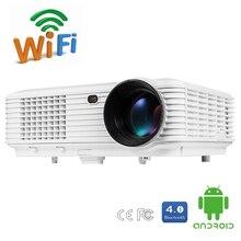 Nueva DH-TL120A 5200 Lúmenes Quadcore Android OS WiFi Inteligente 1080 P 3D Full HD de Cine En Casa LCD LED TV Proyector Proyector de vídeo