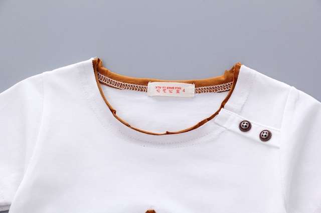 Newborn New Stat Clothing Sets For Baby Boy T-shirt+ Shorts Pants 2 Pcs Clothes Sets 3