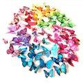 12 Teile/satz 3D PVC Doppel Schmetterling Wand Aufkleber Schmetterling auf der wand Home Decor Neue Ankunft Fridage aufkleber Dekoration-in Wandaufkleber aus Heim und Garten bei