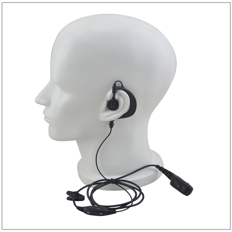 1-Wired G-shape Ear Loop Earpiece With Switch PTT& VOX For Hytera PD785 PD705 PD782 PD702 PD700 PC780 PT580H PT-580 DMR Radio