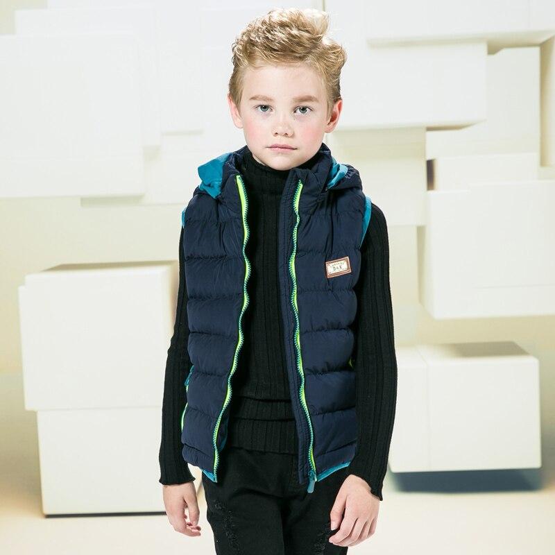 ZuverläSsig Kinder Winter Mit Kapuze Westen Kinder Baumwolle Weste Mäntel Kinder Mode Westen Jungen Warme Oberbekleidung Jacke 4-10 Jahre