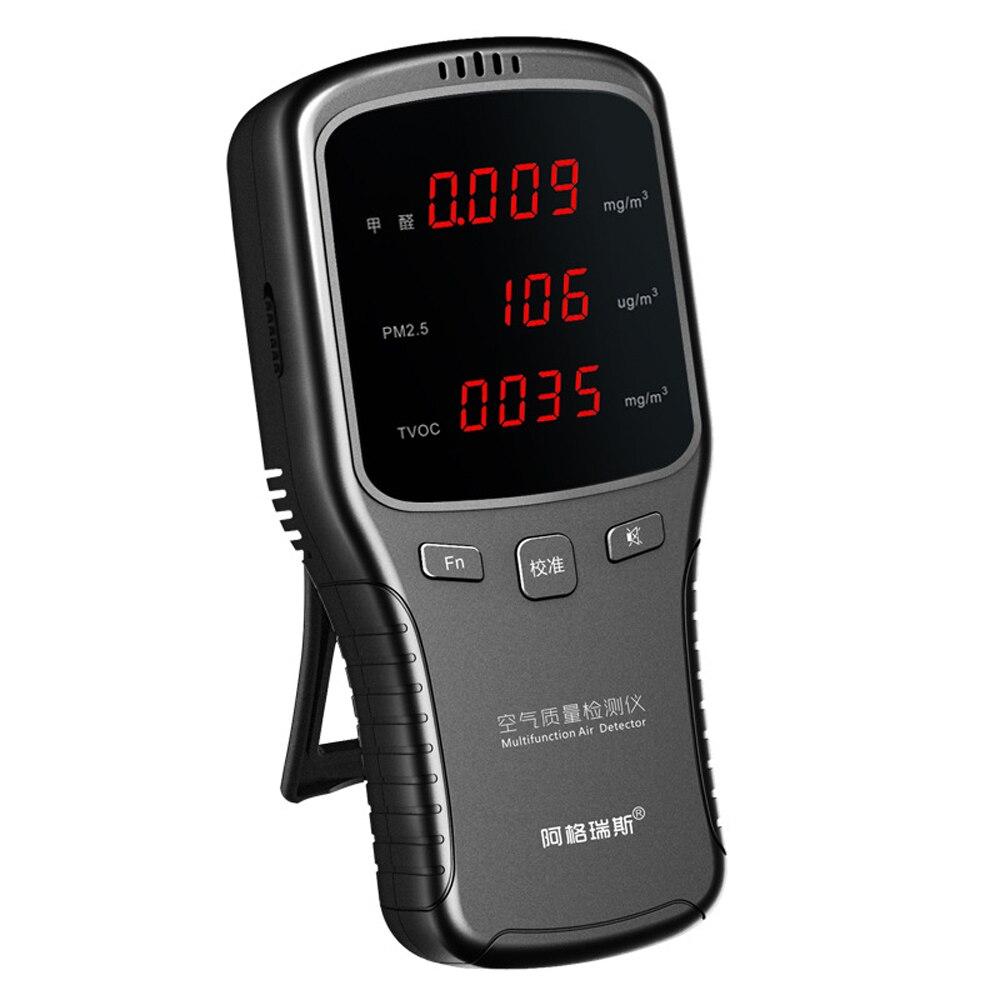 Affichage numérique détecteur de formaldéhyde Air Qualité Détecteur TCOV HCHO PM1.0/PM2.5/PM10 Moniteur Numérique Analyseur De Gaz Testeur