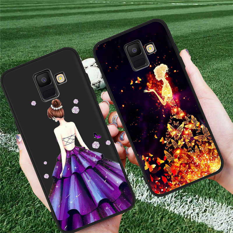 Girl Woman For Samsung Galaxy A9 A8 A7 A6 A5 A3 J3 J4 J5 J6 J8 Plus 2017 2018 M30 A40S phone Case Cover Coque Etui funda fashion