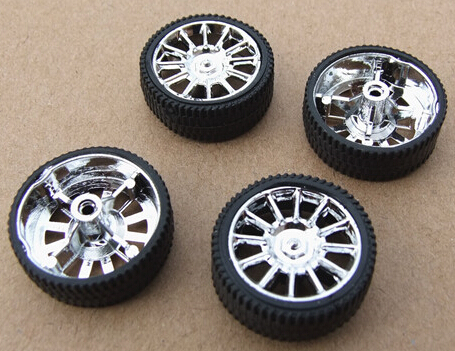 30pcs / toy rubber wheel /26*10.2*2mm/ simulation wheel / DIY model accessories / remote control car accessories/hot wheel  infrared remote control simulation brazil turtle toy animal model