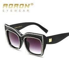 Высокое Качество New Fashion Cat Eye Женщины Солнцезащитные Очки Кристалл Украшения Негабаритных Солнцезащитные Очки Роскошные Очки óculos UV400