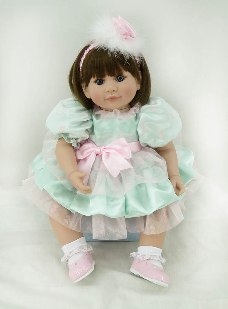50cm Silicone reborn baby dolls toy lifelike 20inch princess toddler girl babies doll kid christmas new year gifts birthday gift short curl hair lifelike reborn toddler dolls with 20inch baby doll clothes hot welcome lifelike baby dolls for children as gift