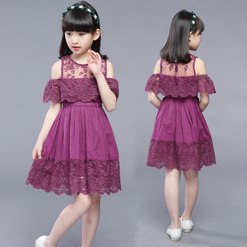 6349f912a New Baby Girl dress 2019 summer Children's Hollow Lace Princess Dresses  kids Party Dress Clothes for. sku: 32920924727