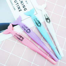 4 pcs/lot Cute Cartoon fishtail Gel Pen kawaii stationery School Supplies Office writting pens paperlaria