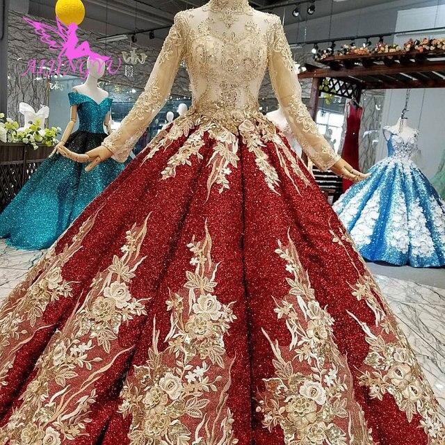 AIJINGYU turcji suknia ślubna na sprzedaż anioł ogród unikalne nowy Tulle sukienki tanie wesela suknie