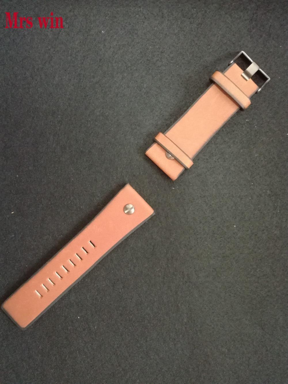 Prix pour Mme gagner nouveautés Véritable bracelet En Cuir de Haute qualité Pour DZ7332 wacth bracelet Fit big cadran montre 24mm grossiste