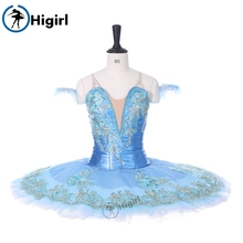 2017New blue tutu ballt skit dress kid child adult professol costume clothes girl Platter Fairy MarzipanBT9130