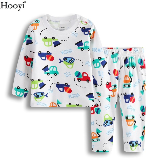 279c8cce4f0e Digger Baby Boys Clothes Set Spring Long Sleeve Children Pajamas Clothing  Sets Baby Sleepwear Cotton T-Shirts Trouser 3-24Month