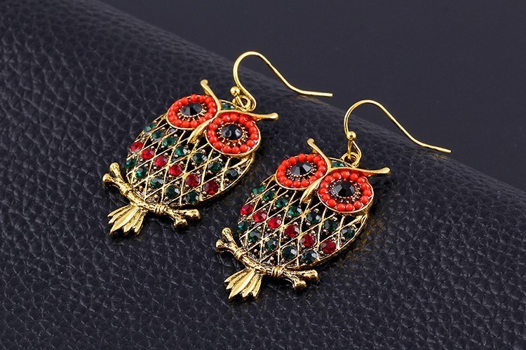 3 Colors Owl Earrings