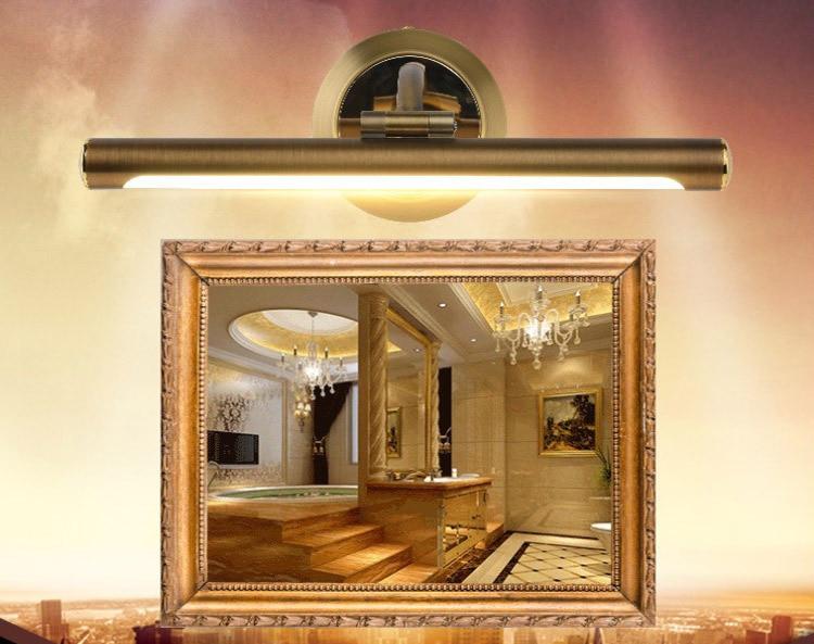American Bronze Retro Led Mirror Front Lamp European Bathroom Mirror ...