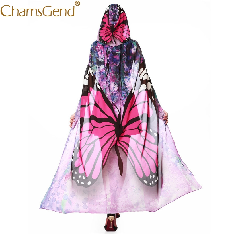 6723614fcc8 Chamsgend Drop Shipping Hot Women Butterfly Wings Chiffon Cosplay Cloak  Poncho Cape For Halloween Festival Show