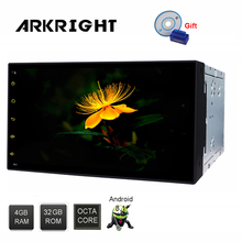 ARKRIGHT 6.95 2 Din 4GB+32GB Universal Car DSP Andriod 8.1 Octa Core OBD/DVR GPS Navi Wifi Bluetooth Rear View Camera Car Radio цена