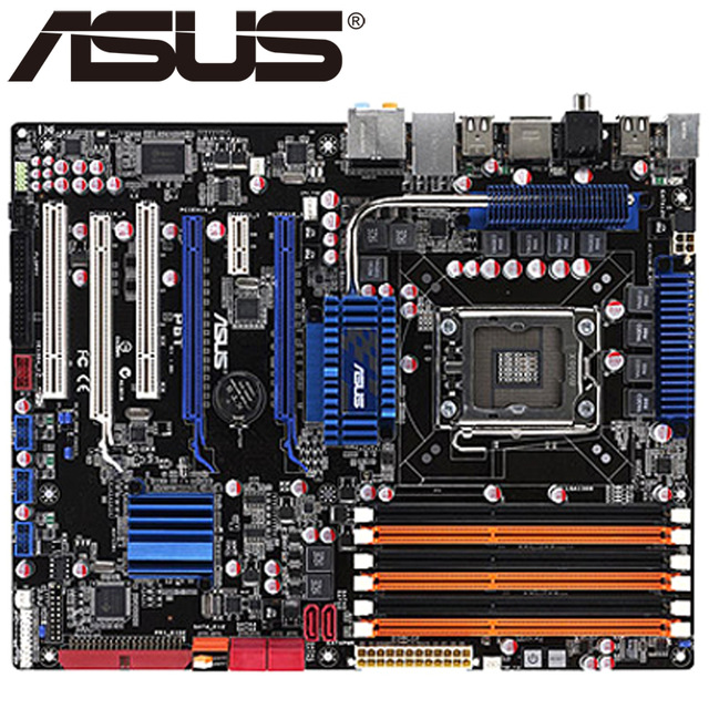 original motherboard for ASUS P6T LGA 1366 DDR3 for Core i7 Extreme cpu 24GB USB2.0 X58 Desktop motherboard Free shipping