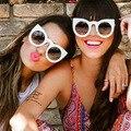 Mais recente Da Europa/América Do Fashion Trend Cateye óculos de Sol Dos Homens Das Mulheres Óculos De Sol de Marca Designer de Personalidade Legal de Alta Qualidade UV400