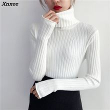 Xnxee real autumn winter new 2018 gloves cuffs self-cultivation shirt women fashion sweater