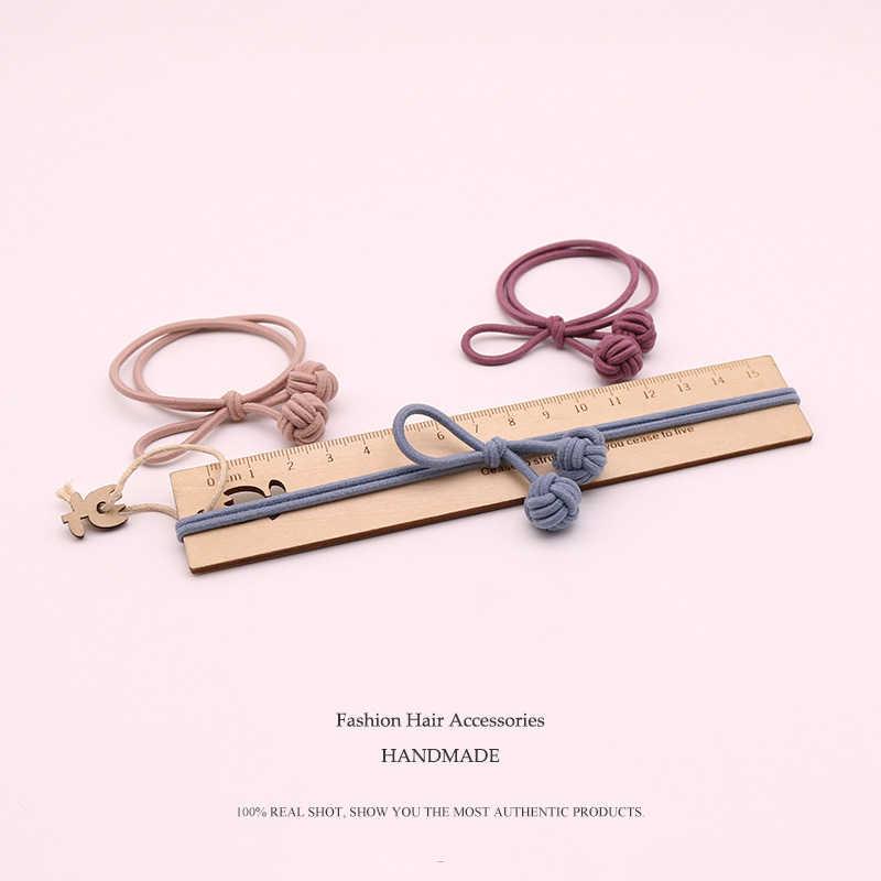 1 шт ручной серый Мяч резинки для волос игрушки для девочек ручной работы лук заставку резинки для волос Детские аксессуары для волос для женщин