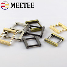 5pcs Meetee Removable Screws Square Metal Buckles Handbag Strap Snap Hooks Luggage Hardware Accessories  F1-22
